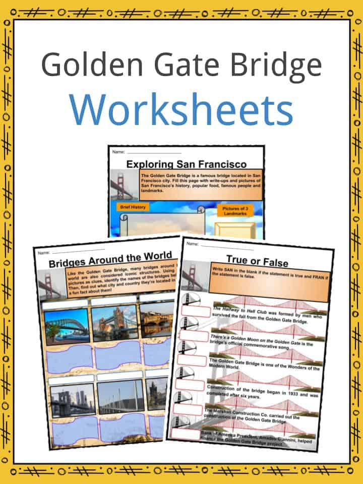 Golden Gate Bridge Worksheets