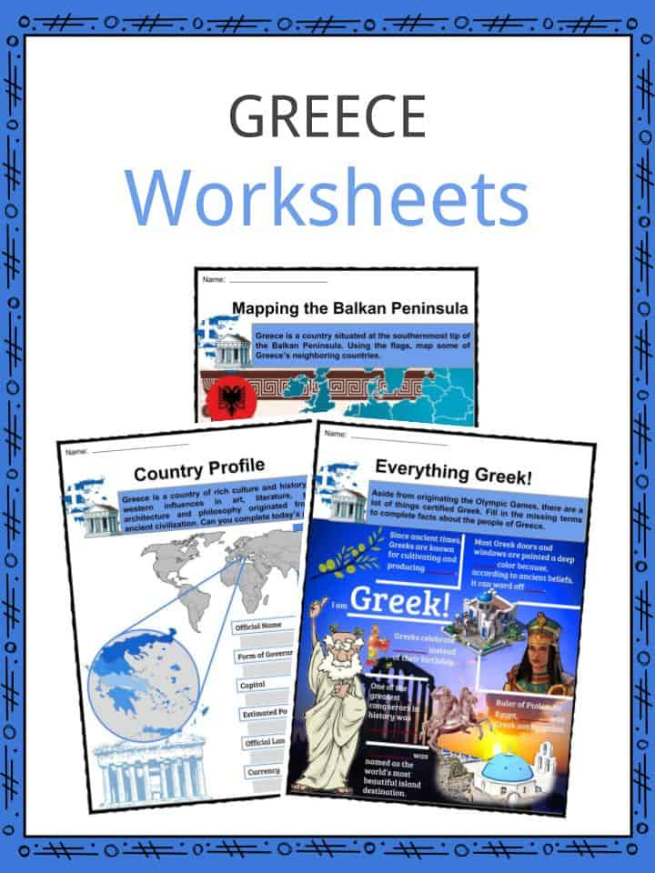 Greece Worksheets
