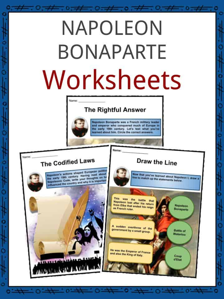 Napoleon Bonaparte Worksheets