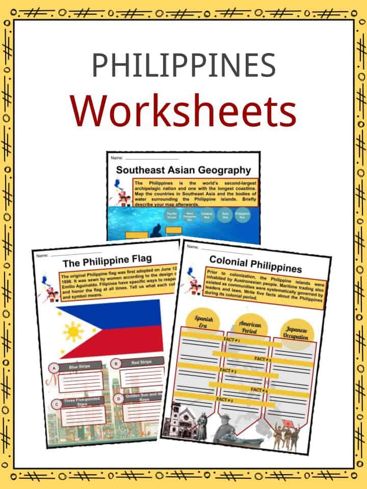 Philippines Facts Worksheets Geography Climate Culture For Kids