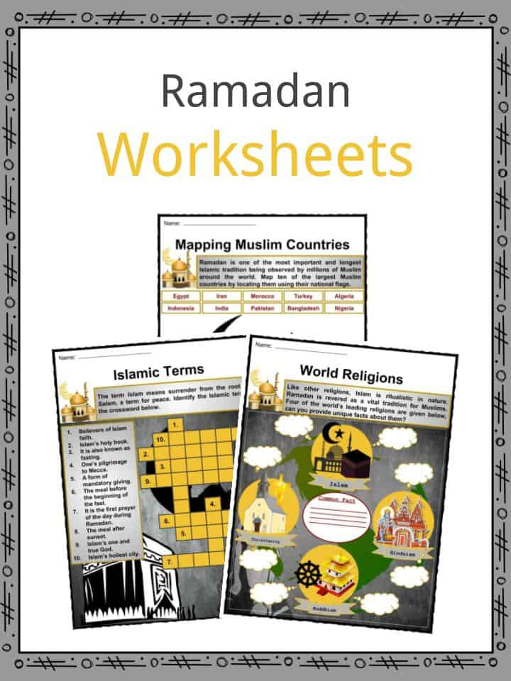 Ramadan Facts, Worksheets, Beliefs & Etymology For Kids