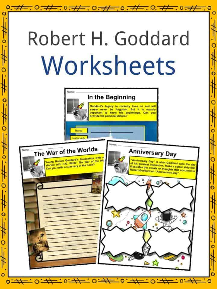 Robert H. Goddard Worksheets