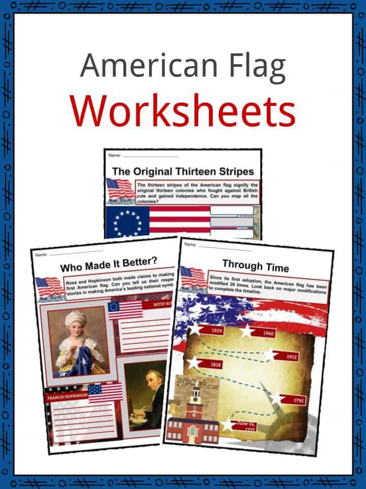 American Flag Facts Worksheets Information History Symbolism