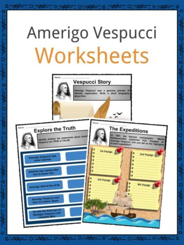 Amerigo Vespucci Worksheets