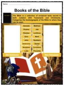 The Bible Facts, Worksheets, Old & New Testament Information