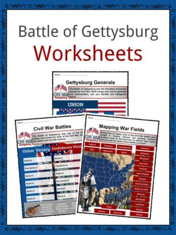Battle of Gettysburg Worksheets