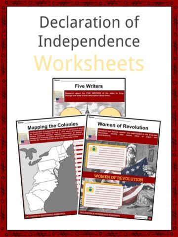Declaration Of Independence Facts Worksheets School Study Resource