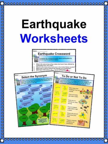 Earthquake Worksheets