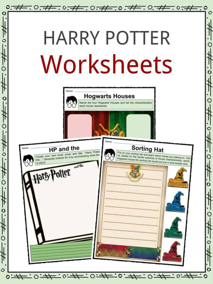 picture about Harry Potter Activities Printable referred to as Harry Potter Information and facts, Worksheets Novel Material For Little ones