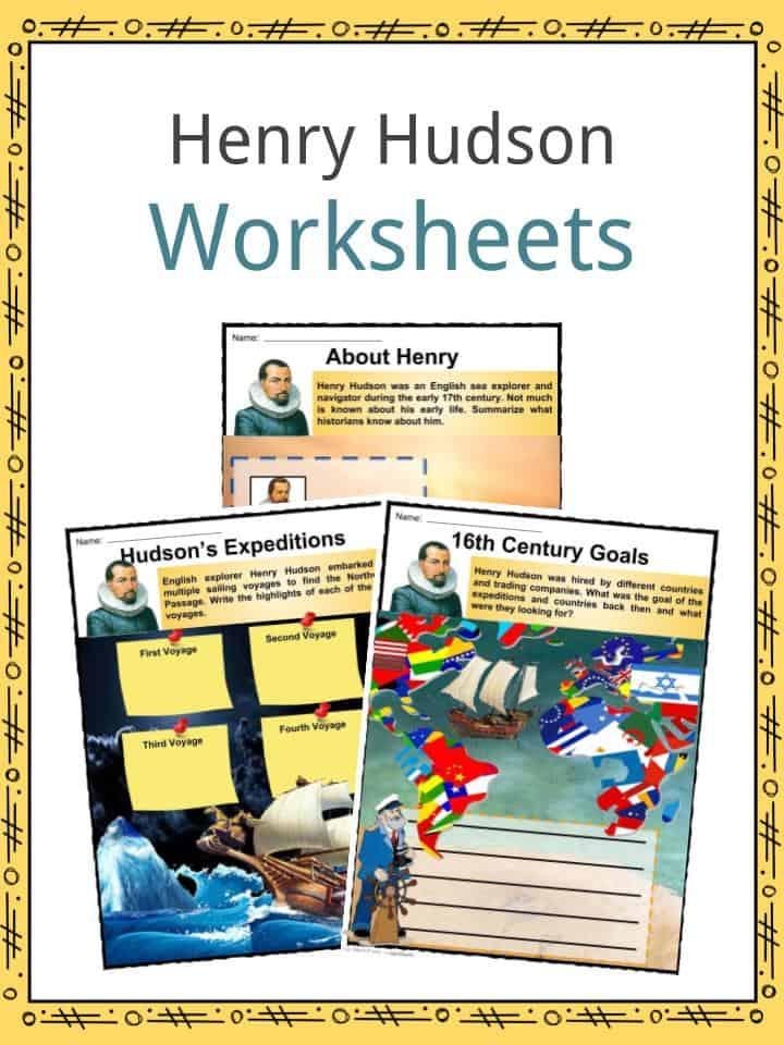 Henry Hudson Worksheets
