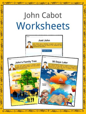 John Cabot Worksheets