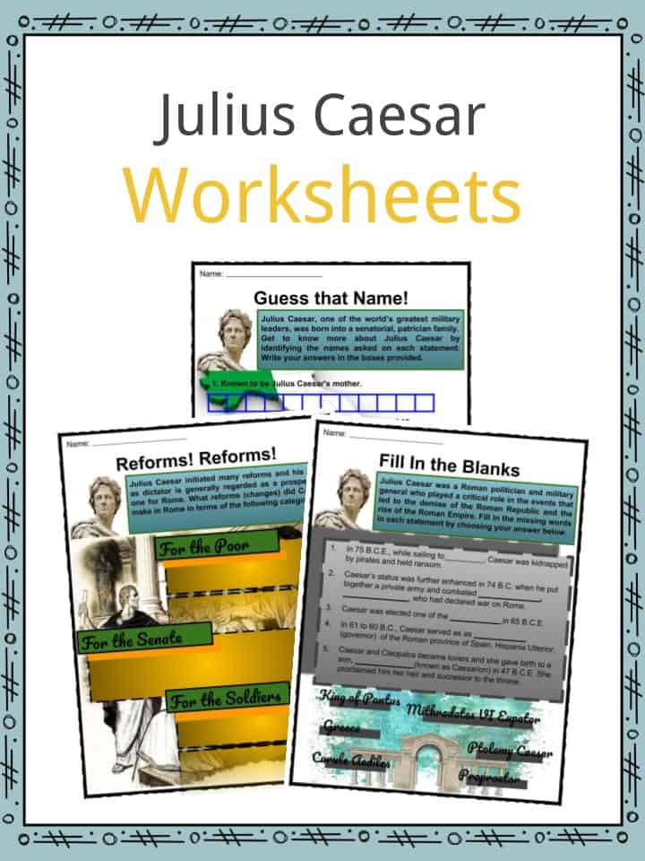 Julius Caesar Facts Worksheets Life Impact
