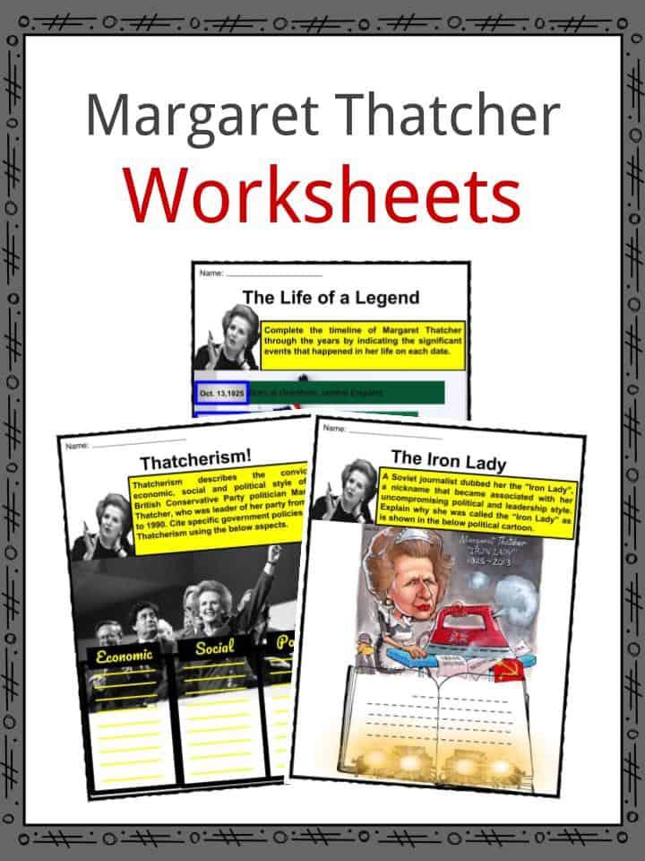 Margaret Thatcher Worksheets
