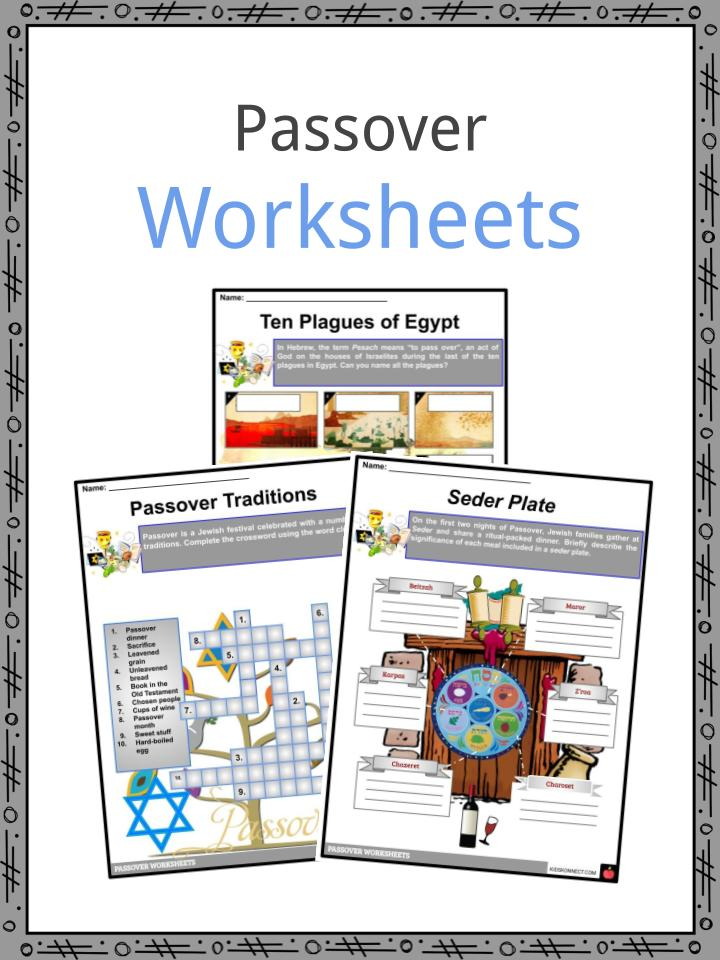 Passover Worksheets
