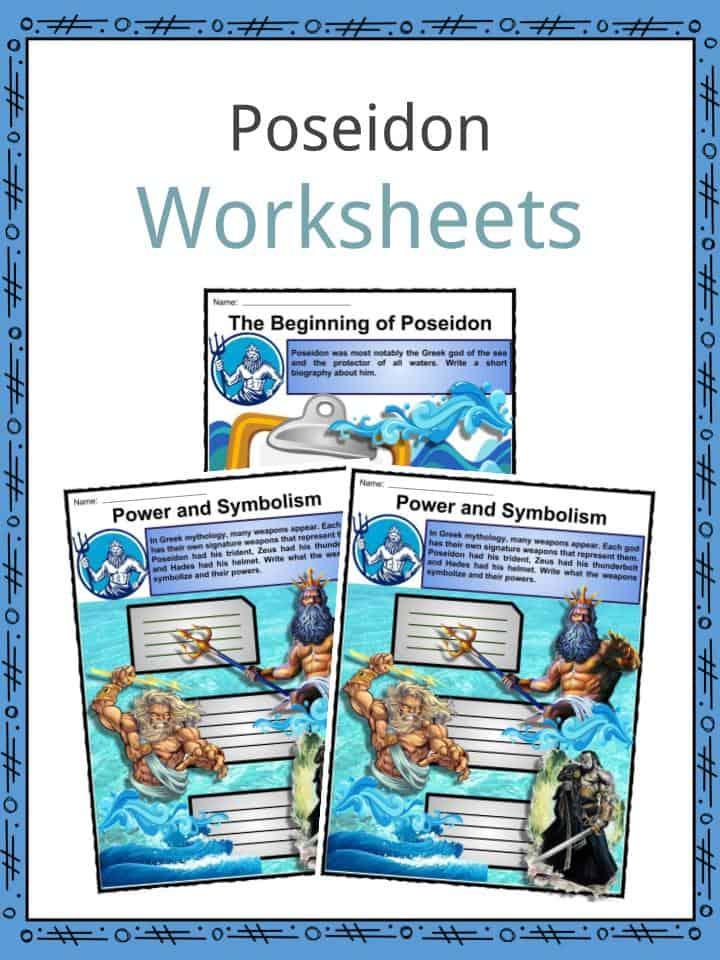 Poseidon Facts Worksheets Traits Symbols Amp God Status