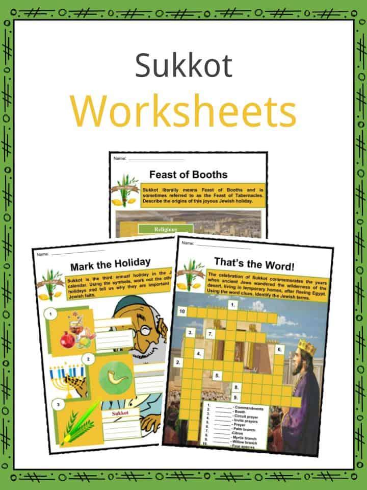 Sukkot Worksheets