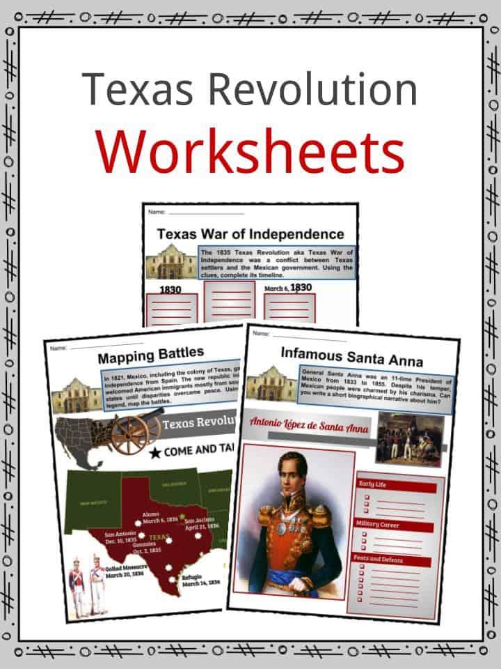 Texas Revolution Worksheets