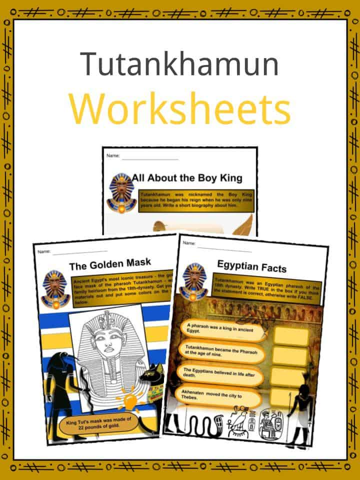 Tutankhamun Worksheets