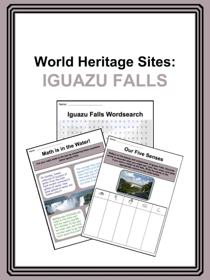 World Heritage Sites - Iguazu Falls Worksheets