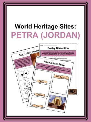 World Heritage Sites - Petra, Jordan Worlsheets
