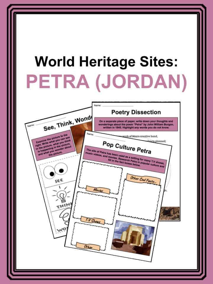 World Heritage Sites - Petra, Jordan Worlsheets