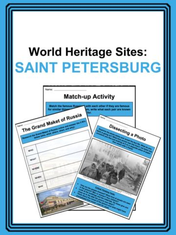 World Heritage Sites - St. Petersburg Worksheets