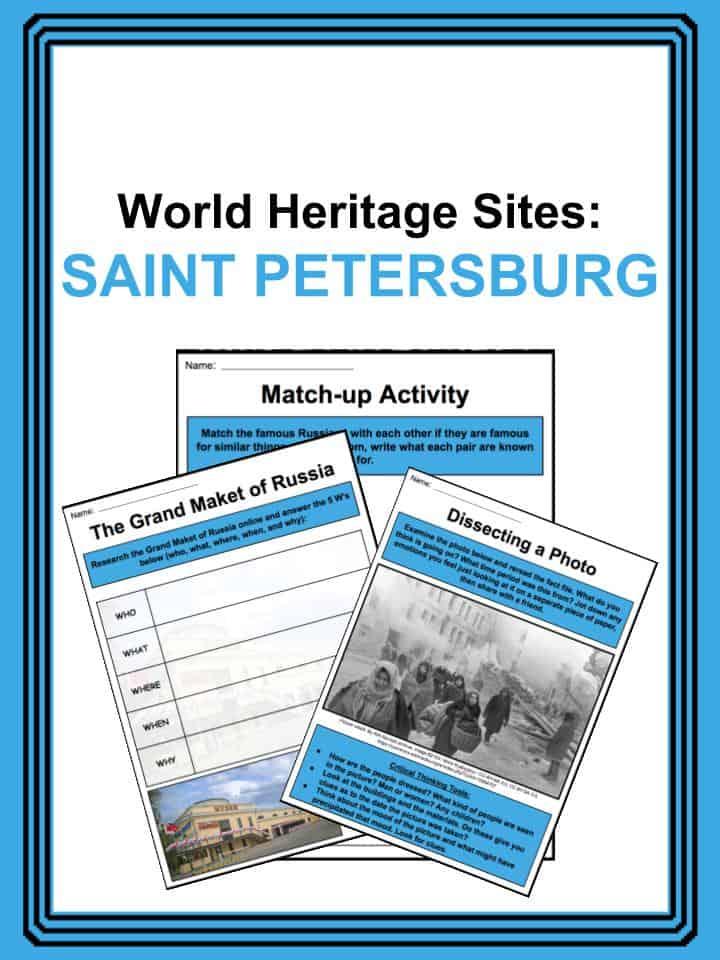 World Heritage Sites - St. Petersburg Worksheets