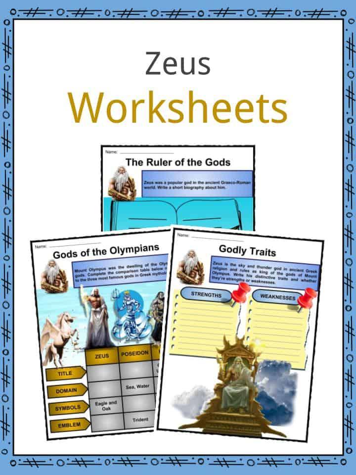 Zeus (God) Facts, Worksheets, Traits & Symbolism For Kids