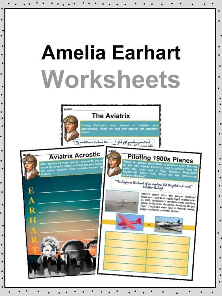 Amelia Earhart Worksheets