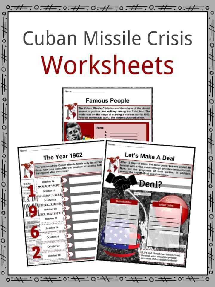 Cuban Missile Crisis Facts Worksheets Significance