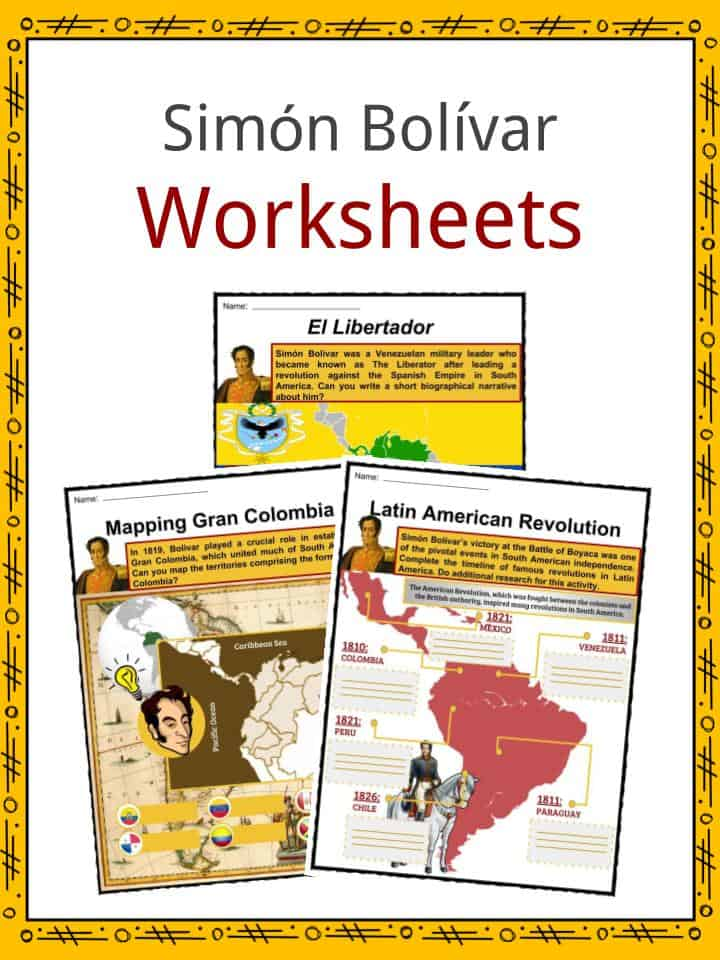 Simon Bolivar Worksheets