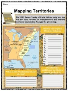 Treaty Of Paris Map 1783.Treaty Of Paris 1783 Facts Worksheets Historic Significance