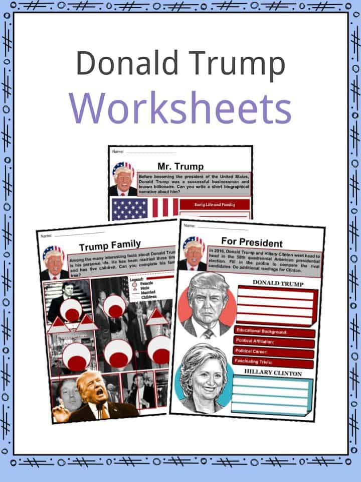 Donald Trump Worksheets