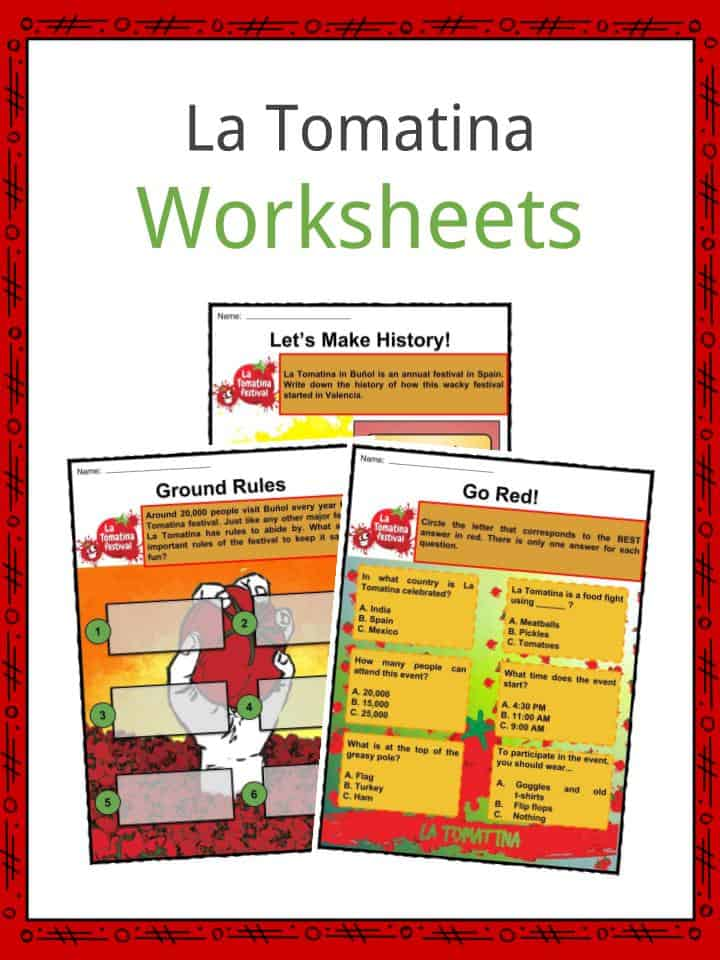 La Tomatina Worksheets