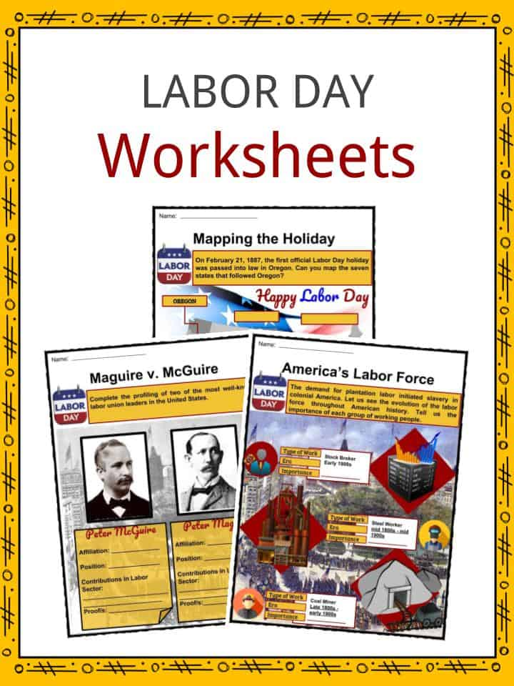 Labor Day Facts Worksheets Historic Information For Kids