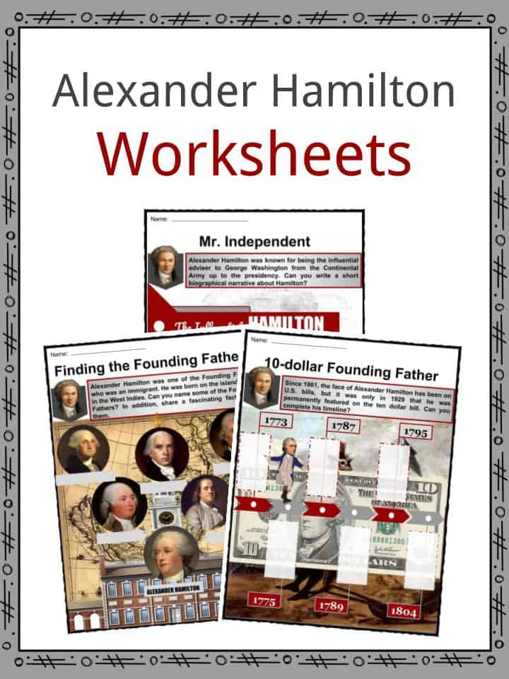 Alexander Hamilton Worksheets