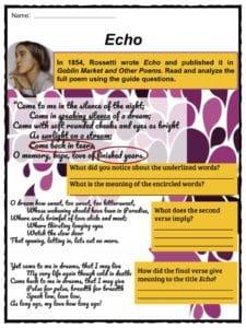 christina rossetti echo analysis