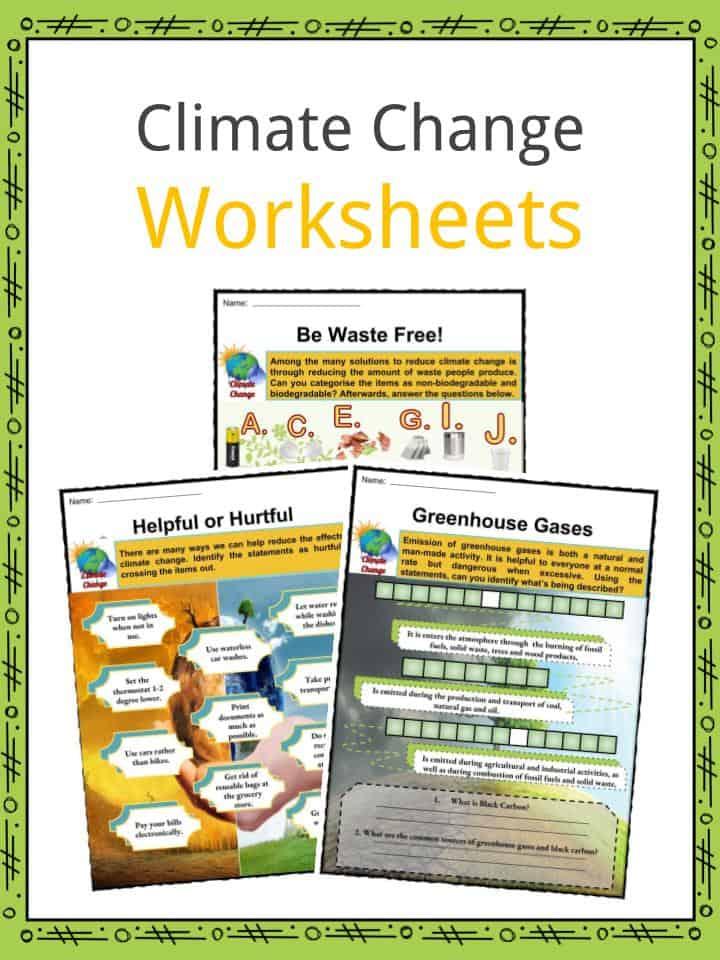 Climate Change Worksheets