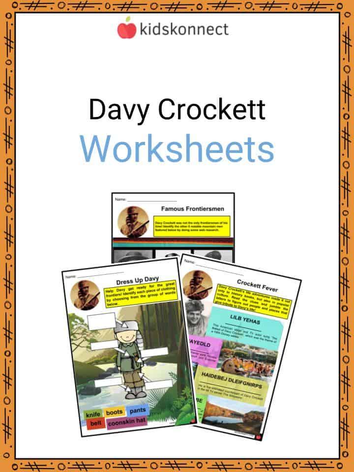 Davy Crockett Worksheets