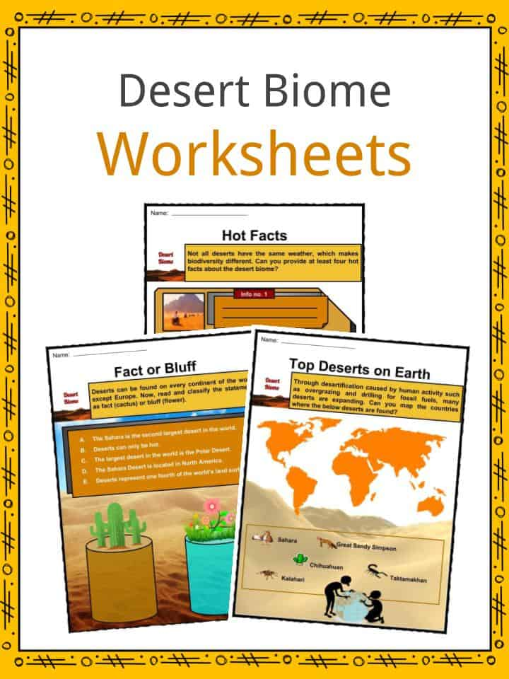 Desert Biome Facts Worksheets Types Locations Flora