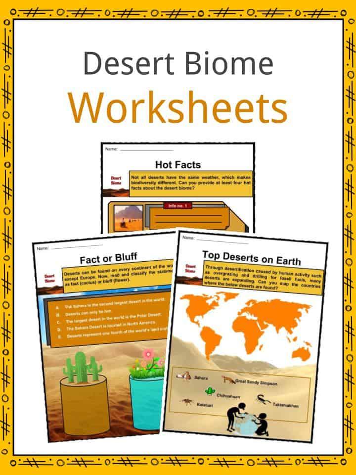 Desert Biome Worksheets