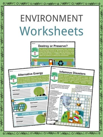 Environment Worksheets