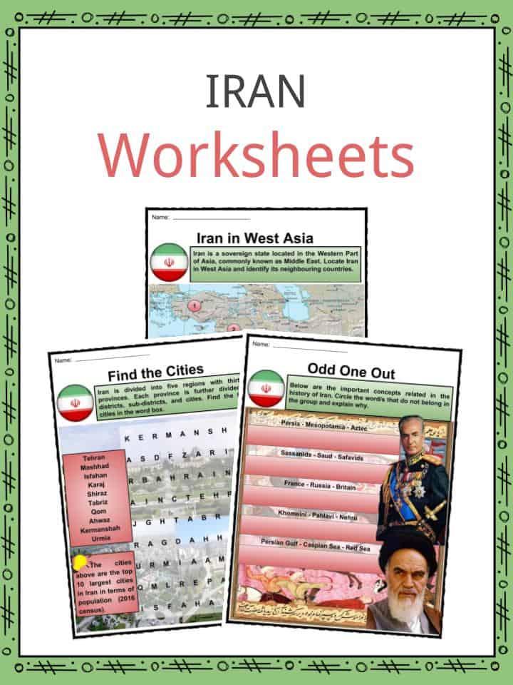Iran Worksheets