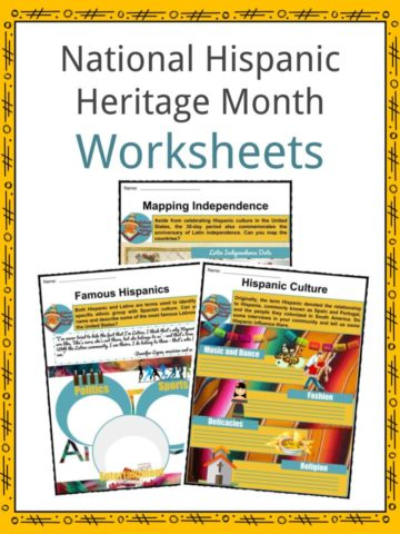 National Hispanic Heritage Month Worksheets