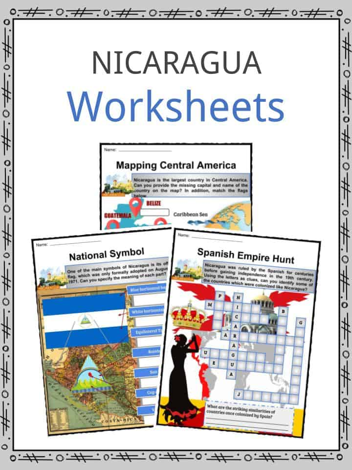The Nicaragua Facts Worksheets