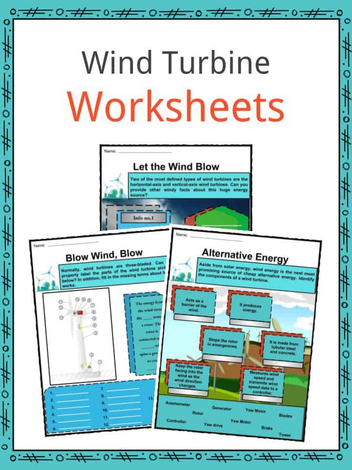 Wind Turbine Facts, Worksheets, History & Efficiency For Kids
