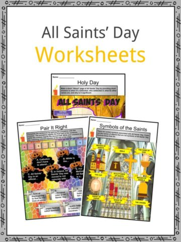 All Saints' Day Worksheets