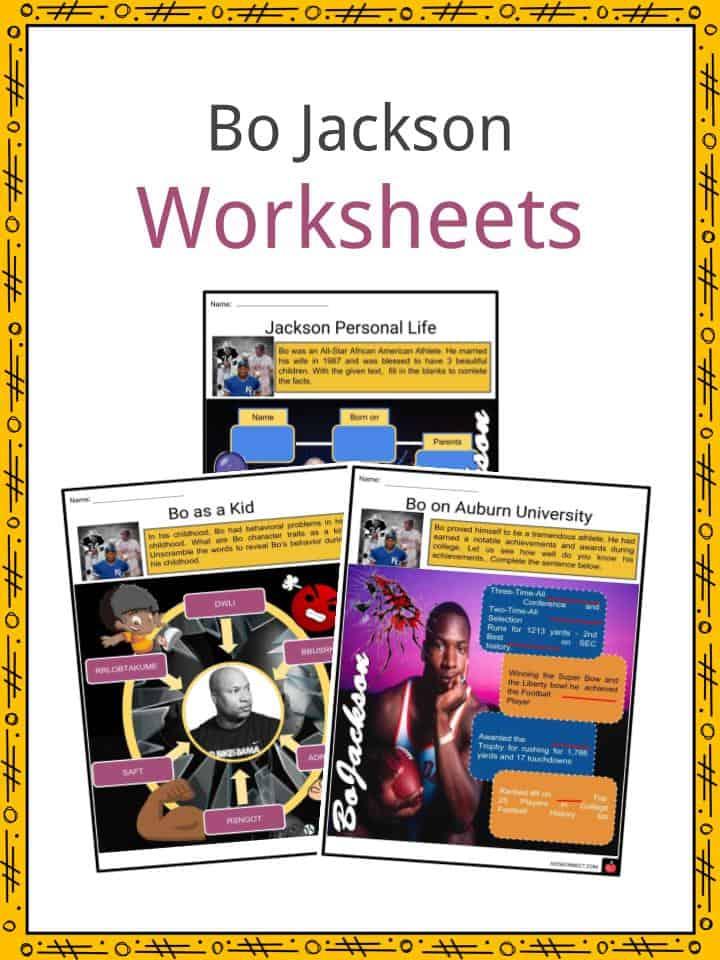Bo Jackson Worksheets