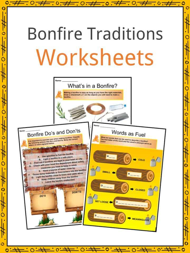 Bonfire Traditions Worksheets