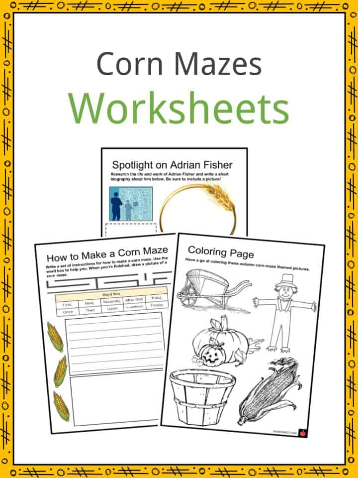 Corn Mazes Worksheets